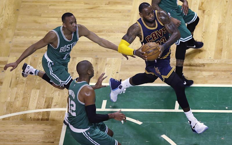 LeBron James carved through the Celtics' defense time and again on Wednesday. (AP)