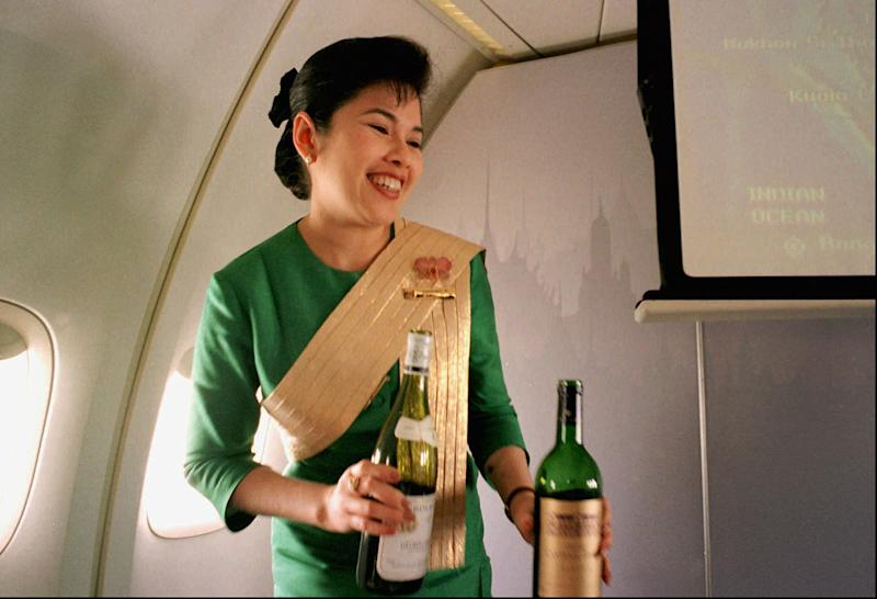 Your drink: now the most pleasant part of flying