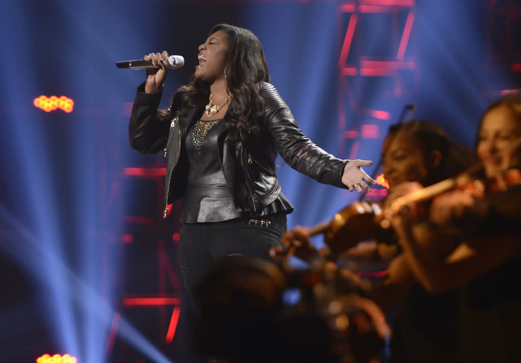 """Candice Glover performs """"I Am Beautiful"""" on the Wednesday, May 15 episode of """"American Idol."""""""