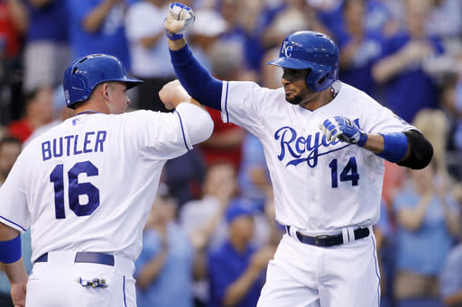 Infante's slam sends Royals to 8-6 win over Angels