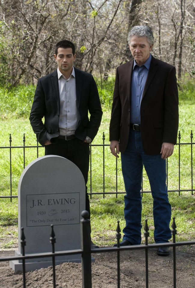 "Jesse Metcalfe and Patrick Duffy in the ""Dallas"" Season 2 episode, ""Legacies."""