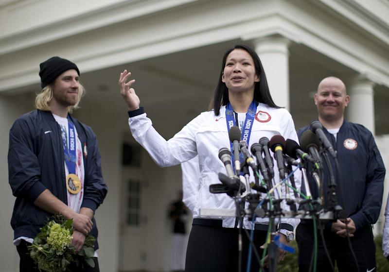 Olympic athletes get their White House moment