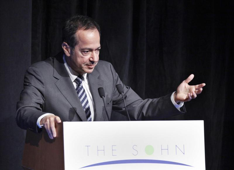 President and Portfolio Manager of Paulson & Co. Paulson speaks during the Sohn Investment Conference in New York
