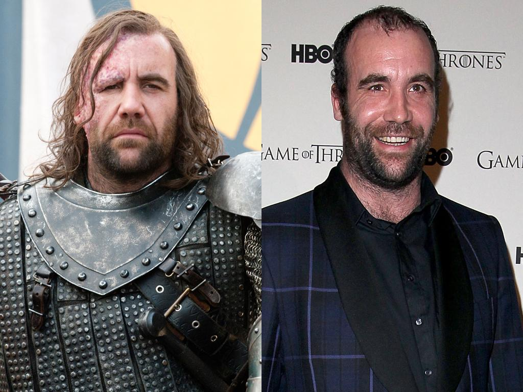 """<b>Rory McCann (Sandor Clegane, aka """"The Hound"""")<br><br></b>Without the armor, the flowing locks, and the hideous facial scarring, Glasgow native Rory McCann looks a lot more approachable than his onscreen alter ego, the fearsome warrior known as """"The Hound."""" We still wouldn't mess with him, though; the man stands 6-foot-6 in real life."""