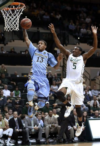 Mayo and Blue both score 13 in Marquette win