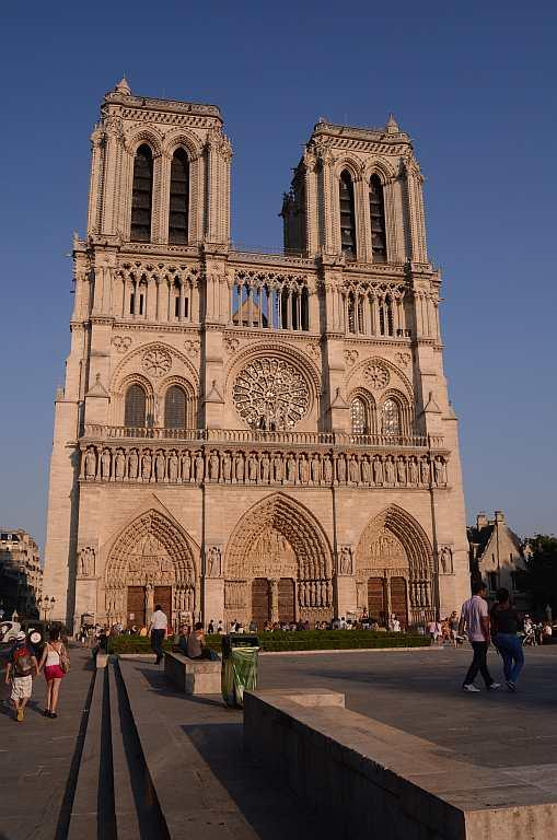 Notre Dame De Paris, France   Standing tall and basking in the evening light, this 12th century Gothic cathedral lies on the Ile De La Cite, an island in the Siene in Paris. The church, which houses religious relics, has about 390 steps on top that take you across spiral staircases from where you can enjoy a panoramic view of Paris.