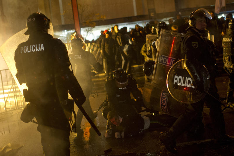 Clashes in Slovenia before presidential vote