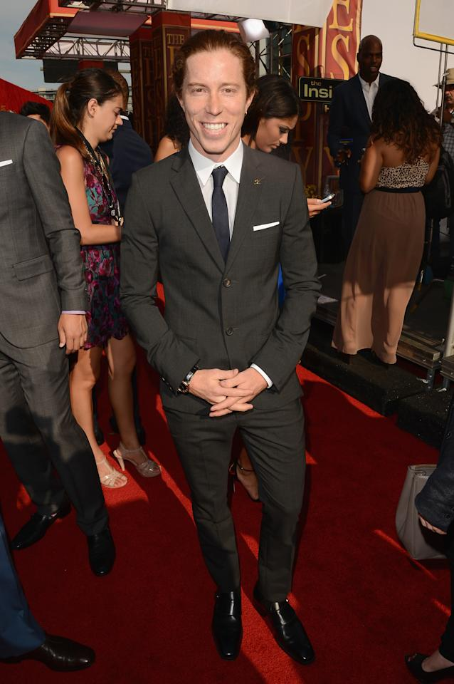 LOS ANGELES, CA - JULY 11:  Olympic gold medalist Shaun White arrives at the 2012 ESPY Awards at Nokia Theatre L.A. Live on July 11, 2012 in Los Angeles, California.  (Photo by Jason Merritt/Getty Images)