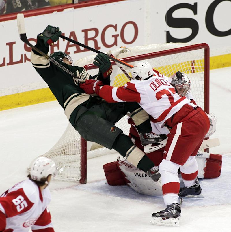 Nyquist's goal gives Red Wings 3-2 win over Wild