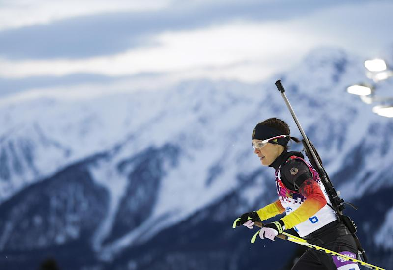 Biathlete Sachenbacher-Stehle banned for doping