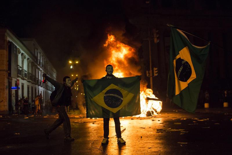 Demonstrators flood Brazilian streets in protest
