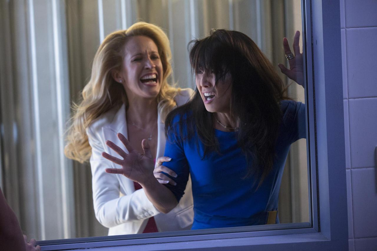 "Anna Camp and Tamlyn Tomita in the ""True Blood"" Season 6 episode, ""Dead Meat."""