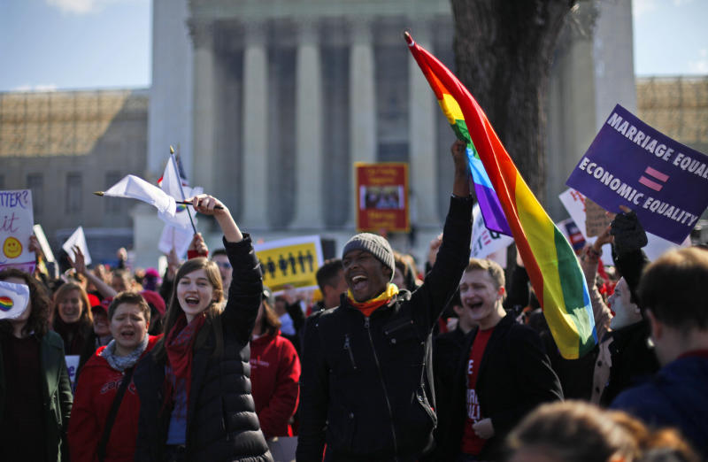 High court hears case on federal benefits for gays