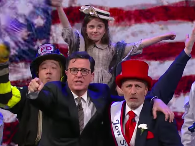 Stephen Colbert reminds viewers how they are alike in Election Day special