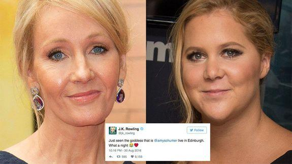 Amy Schumer and J.K. Rowling Bond Over 'Harry Potter'