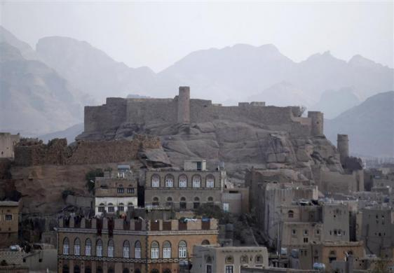 A view of the historical Radda castle, overtaken by al Qaeda militants, southeast of Yemeni capital Sanaa January 15, 2012.