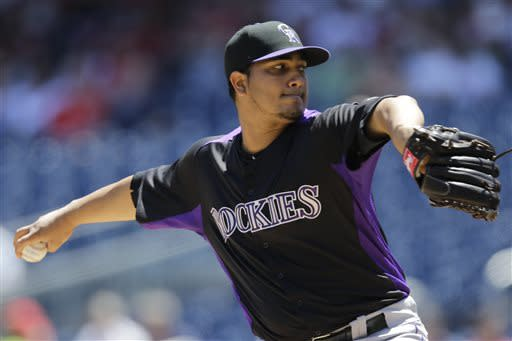 Rockies end skid, beat Nationals 7-1 behind Chacin