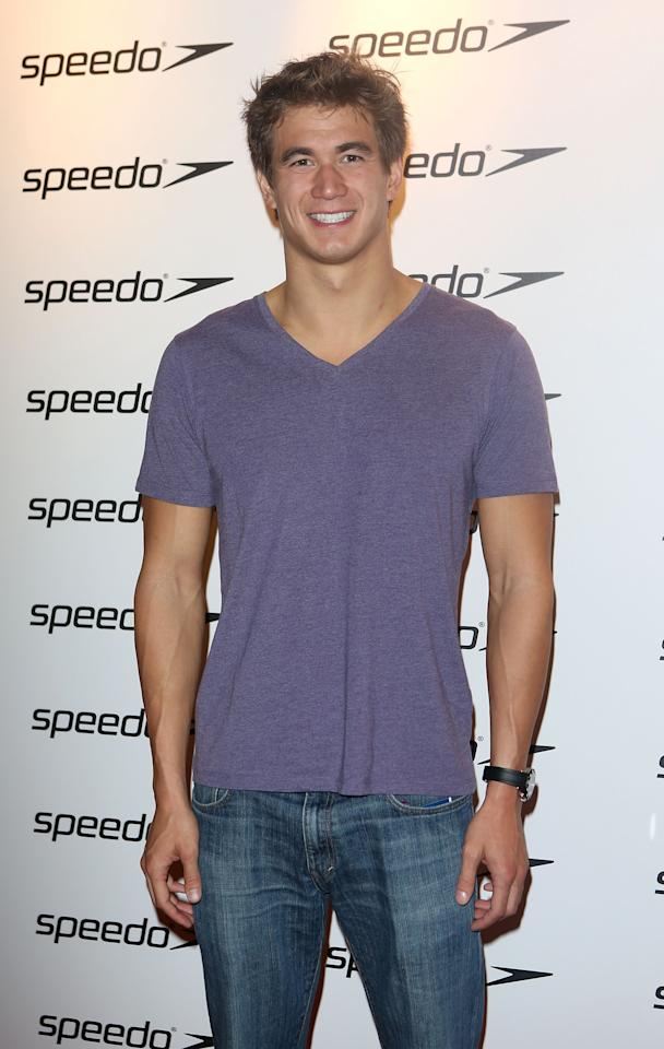 LONDON, ENGLAND - AUGUST 06:  Nathan Adrian attends the Speedo Athlete Celebration at Kensington Roof Gardens on August 6, 2012 in London, England.  (Photo by Tim Whitby/Getty Images for Speedo)