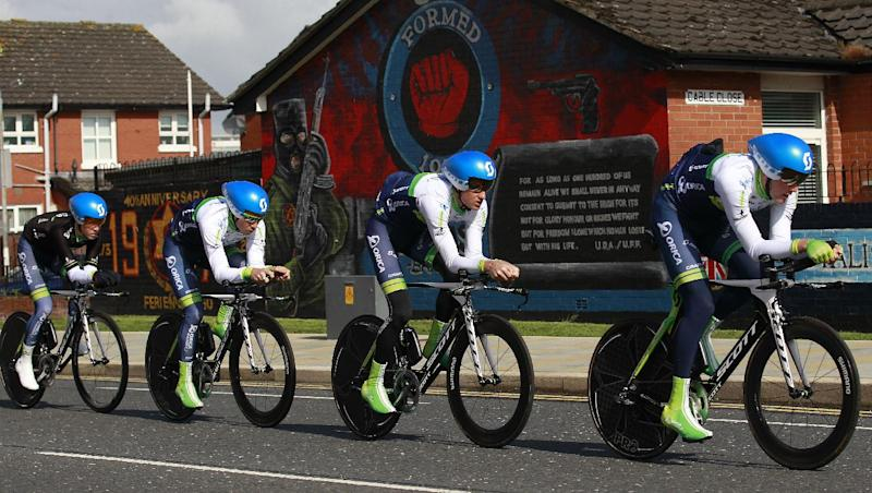 Orica wins TTT in Belfast on opening day of Giro