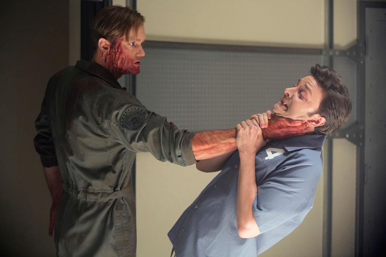 "Alexander Skarsgard and Michael McMillian in the ""True Blood"" Season 6 episode, ""Life Matters."""