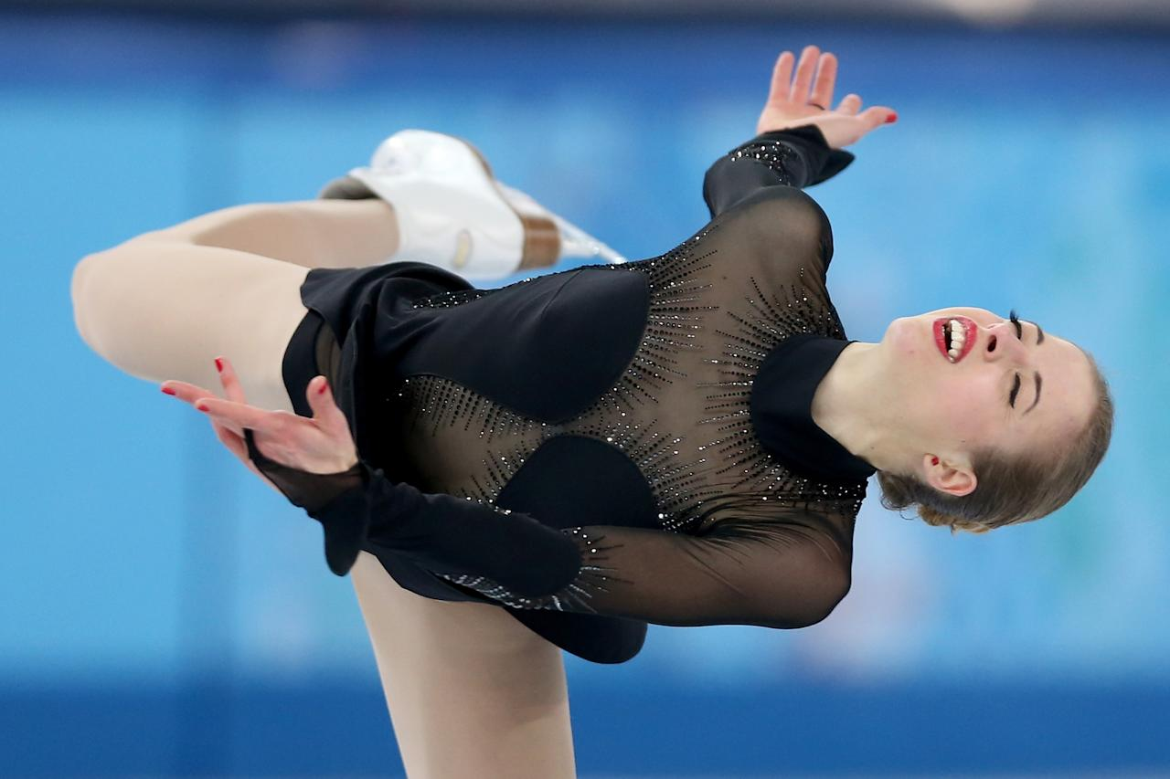 SOCHI, RUSSIA - FEBRUARY 20: Carolina Kostner of Italy competes in the Figure Skating Ladies' Free Skating on day 13 of the Sochi 2014 Winter Olympics at Iceberg Skating Palace on February 20, 2014 in Sochi, Russia. (Photo by Matthew Stockman/Getty Images)