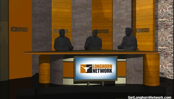 Mock television set for the new Longhorn Network