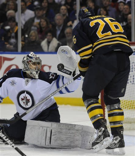 Oduya scores in OT and Jets defeat Sabres 2-1