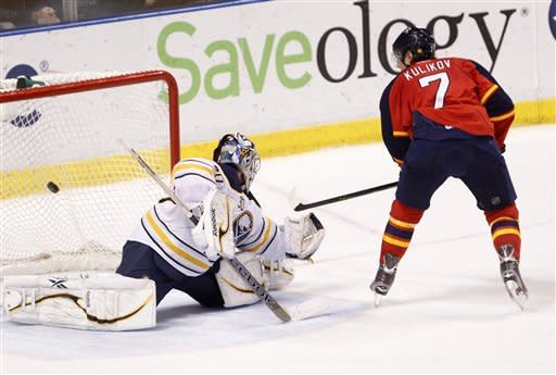 Kulikov leads Panthers past Sabres 3-2 in SO