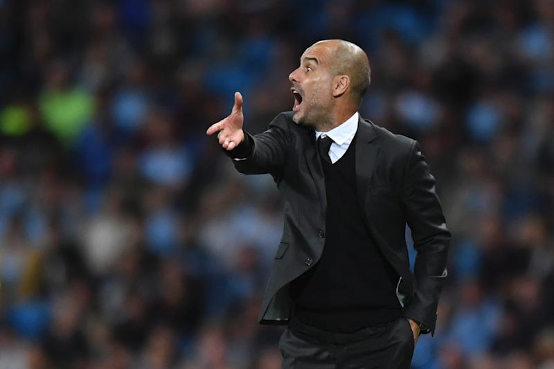 """Manchester City's Spanish manager Pep Guardiola, pictured on August 24, 2016, said that if Hart stays with the club """"the best solution is for everybody to be involved in our idea"""""""