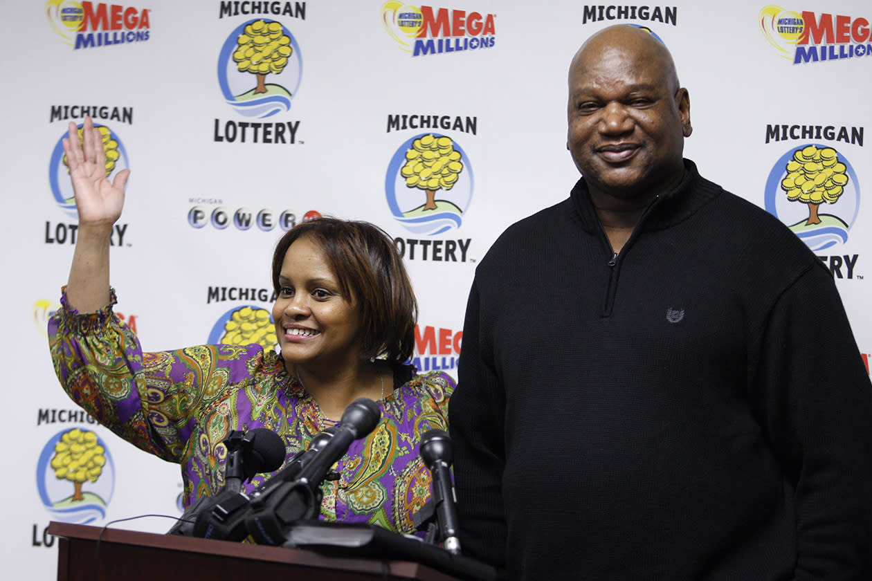 <b>$91 million</b><br><br>Hosea, right, and Charlene Person talk about their winning Mega Millions lottery ticket at a news conference Friday, Feb. 4, 2011, in Lansing, Mich. The married couple is among 13 current and retired postal workers who plan to split the Mega Millions prize. The PI Gold Lottery Club has chosen to take it in one lump sum of $29 million less taxes.