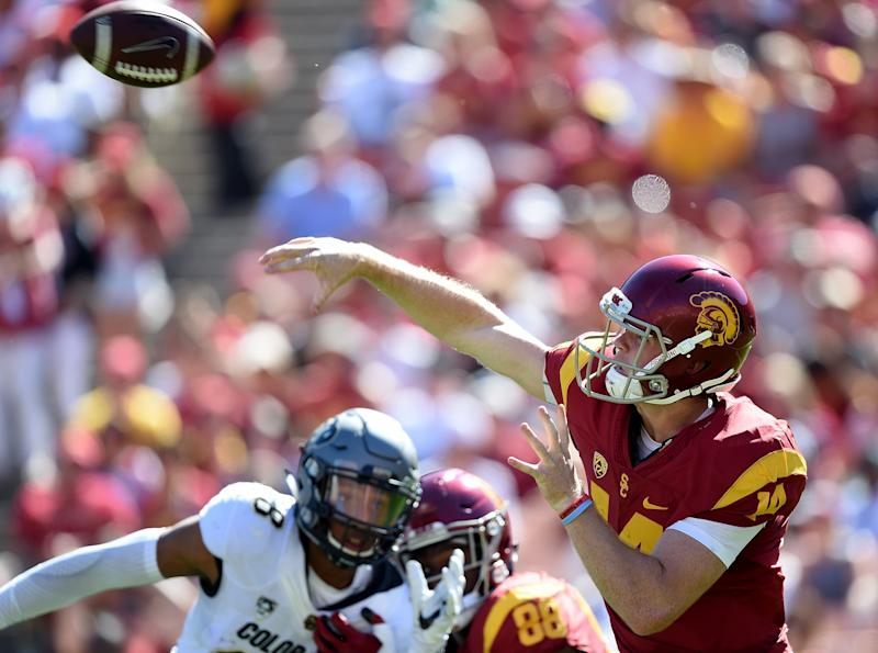 With Sam Darnold at QB, USC has rebounded from a poor start. (Getty)