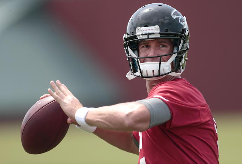 Falcons want big improvement from guys up front