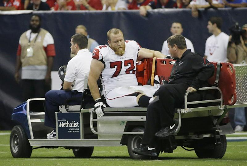 Falcons LT Sam Baker out for the year with injury