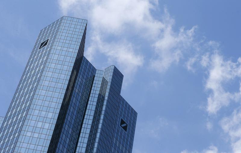 The headquarters of Deutsche Bank AG is pictured in Frankfurt