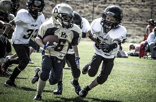 Sam Gordon scored 25 touchdowns in her first season of tackle football. (Courtesy of Brent Gordon)