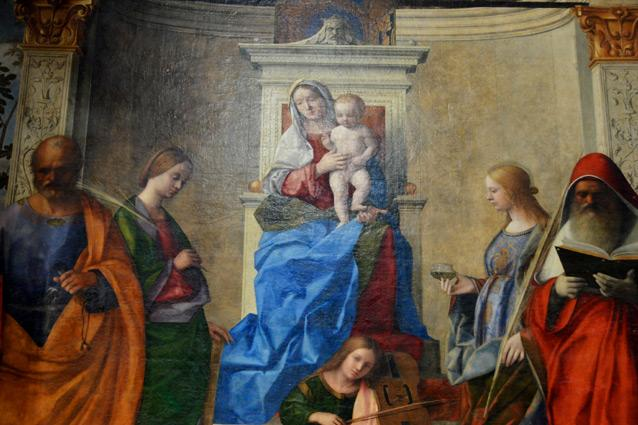 Madonna enthroned with child and saints. Photo: Richard Mortel
