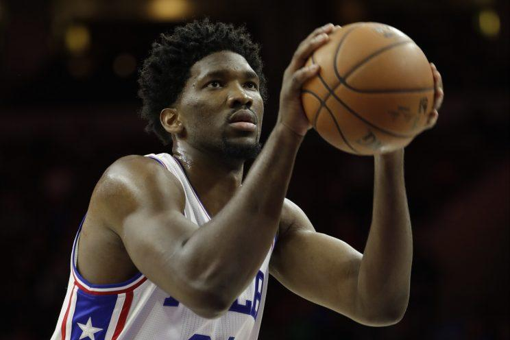 Joel Embiid topped 25 minutes for only the second time in his NBA career. (Associated Press)