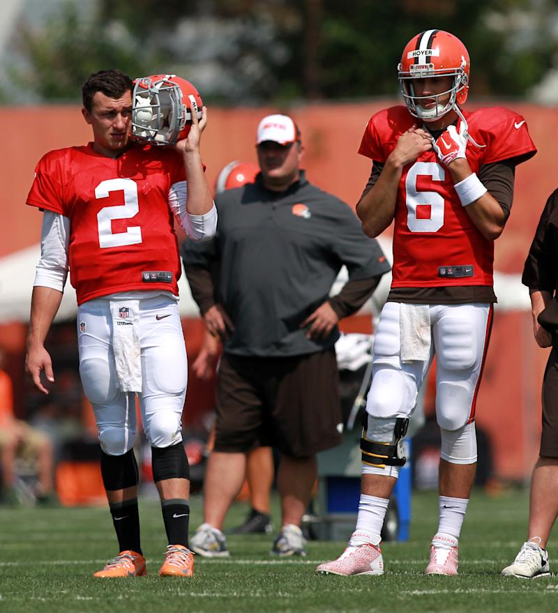 Hoyer, not Manziel, starting exhibition opener