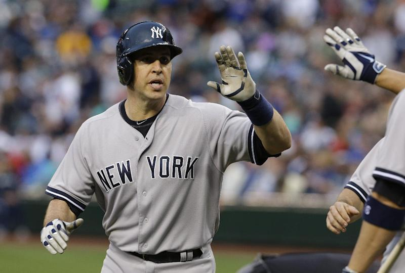 Yankees' Teixeira scratched from lineup at Oakland