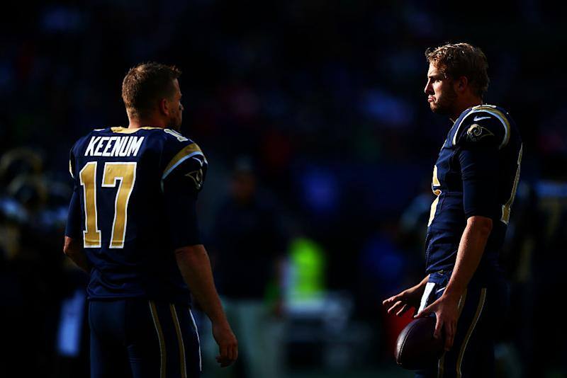 Case Keenum forced to settle into backup role with LA Rams