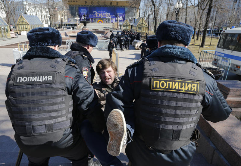 Anti-corruption protests lead to arrests in Russia