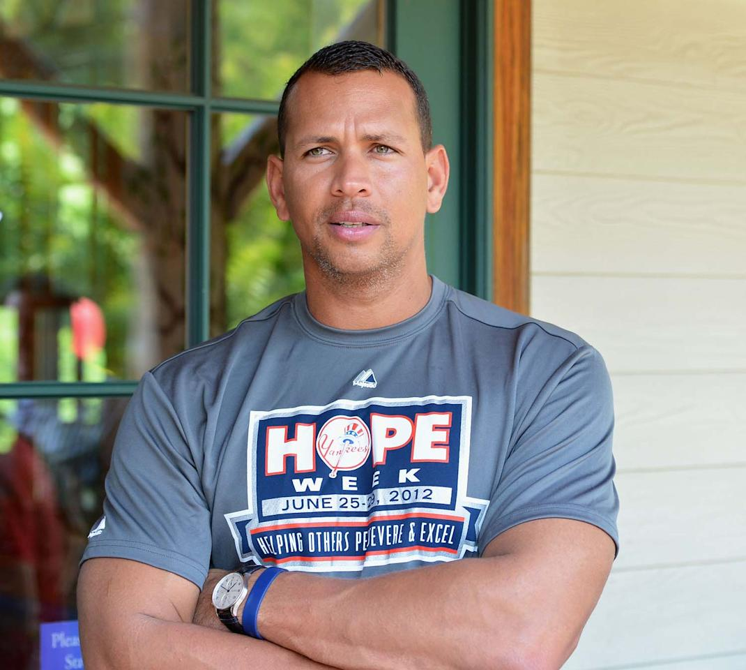 NEW YORK, NY - JUNE 29:  NY Yankees' Alex Rodriguez attends the HOPE Week 2012 Celebration at The New York Botanical Garden on June 29, 2012 in New York City.  (Photo by Slaven Vlasic/Getty Images)