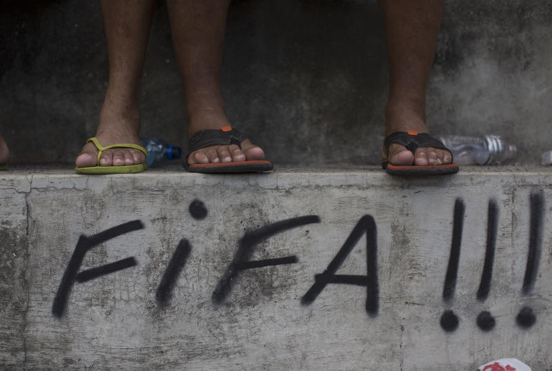 AP PHOTOS: Brazil in countdown for World Cup start