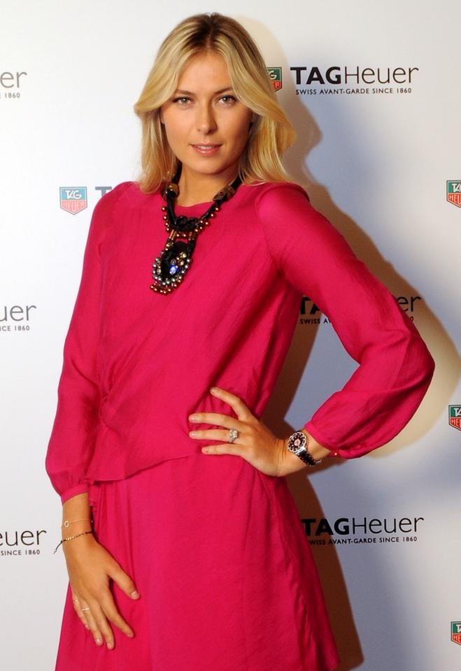ISTANBUL TURKEY - NOVEMBER 1: Maria Sharapova attends the TAG Heuer Formula 1 Lady Steel and Ceramic Pavee watch launch on November 1, 2011 in Istanbul, Turkey.  (Photo by Burak Kara/Getty Images for Tag Heuer)