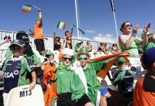 Ireland fans at Nelson.