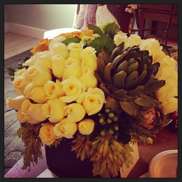 """""""Larry Jones, the president of #TVLand, sent these gorgeous flowers. Look at those heartaches!"""""""