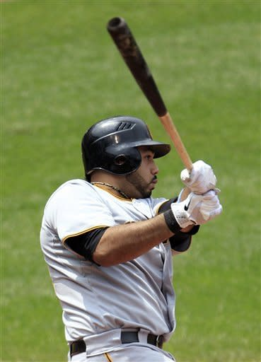 Alvarez's six RBIs power Pirates past Indians 9-5