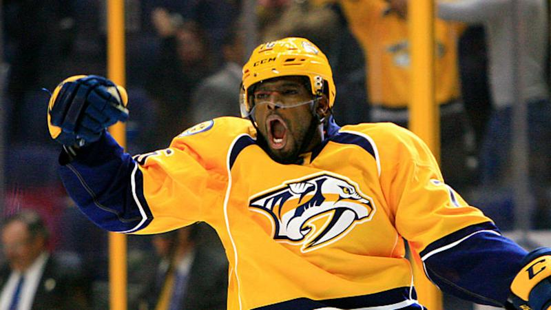 P.K. Subban scores on first Predators shot