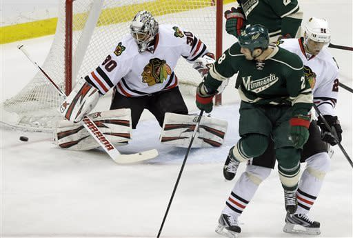 Hossa, Emery carry Blackhawks to 1-0 win over Wild