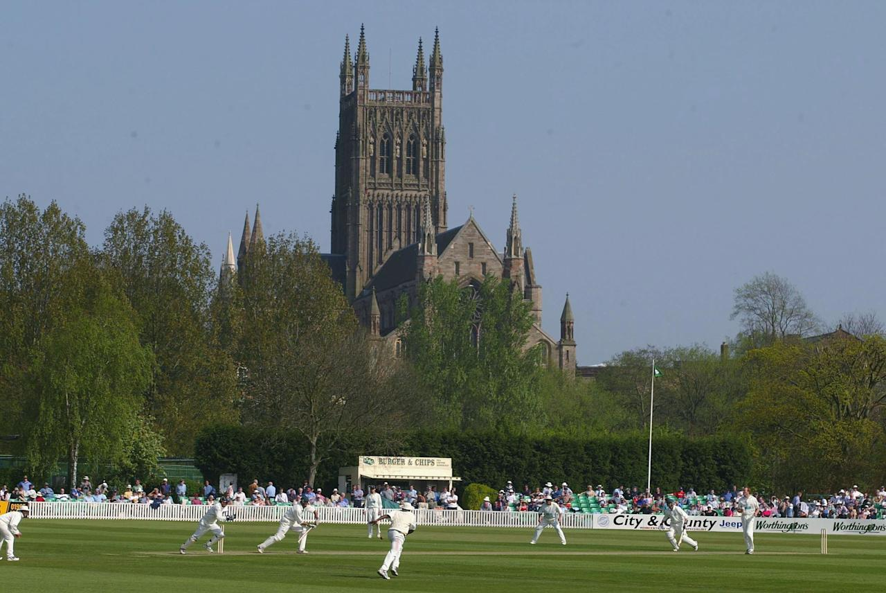 WORCESTER - APRIL 18:  A general view of New Road Cricket Ground during the Frizzel County Championship match between Worcestershire and Hampshire at New Road on April 18, 2003 in Worcester. (Photo by Ben Radford/Getty Images)